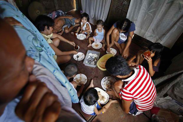 フィリピンの貧乏な家族