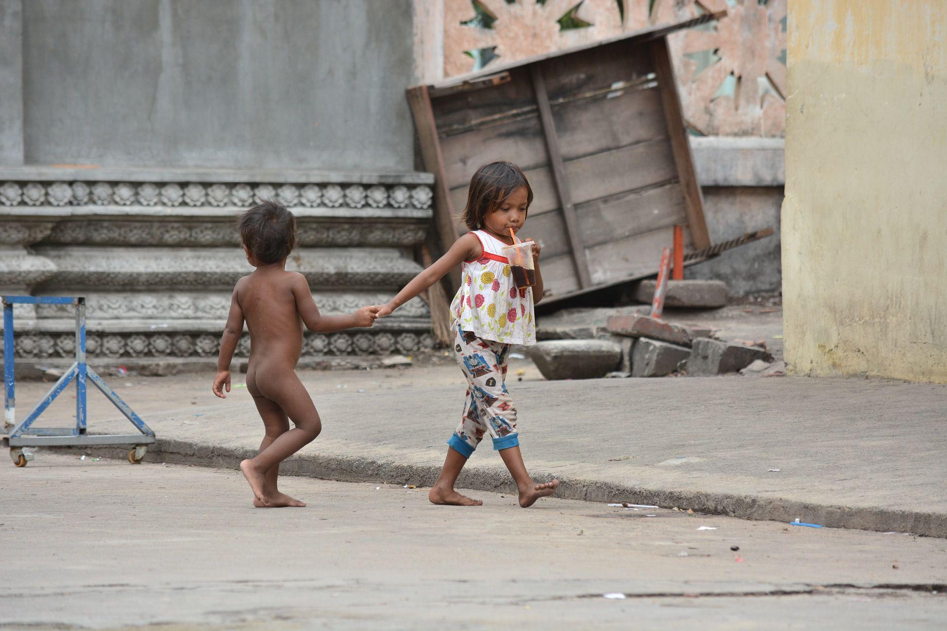 フィリピン人のストリートチルドレン
