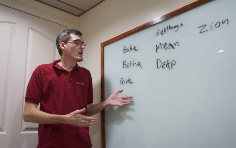 ETHOSのアメリカ人講師