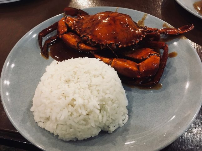 BLACK PAPER CRAB With 1Rice