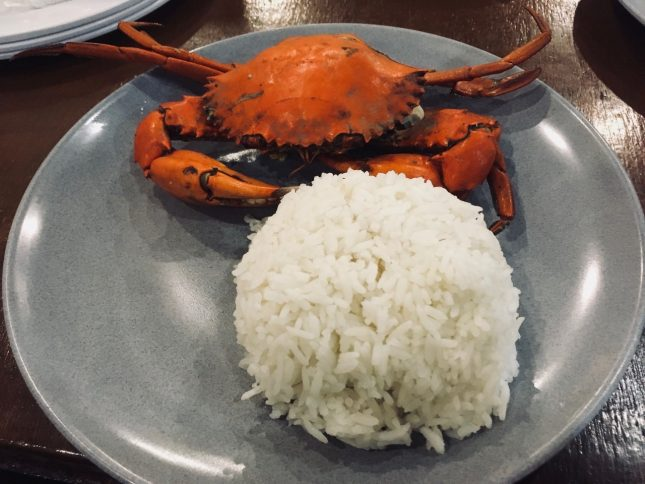 STEAMED CRAB With 1Rice