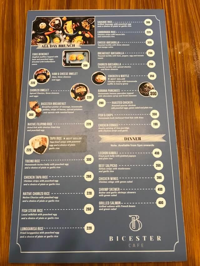 icester Cafeのメニュー表