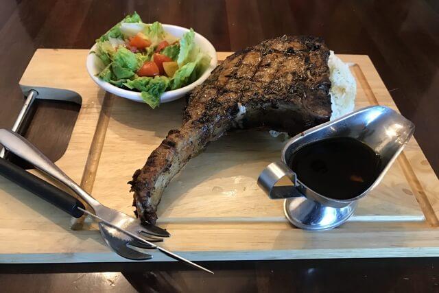 ペンカフェのステーキ