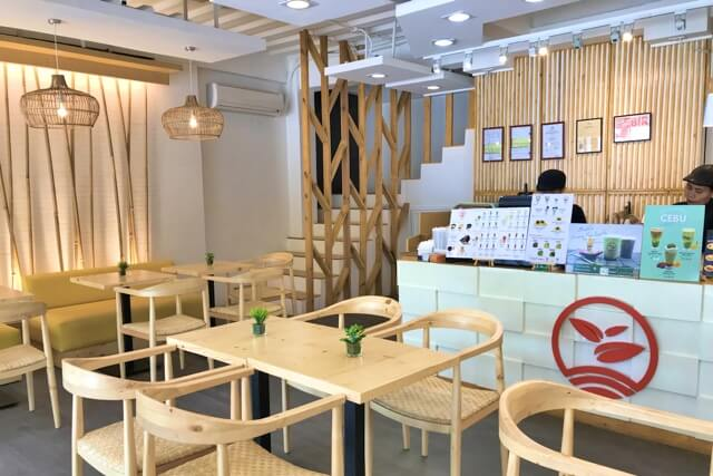 d:matcha カフェ2号店の店内