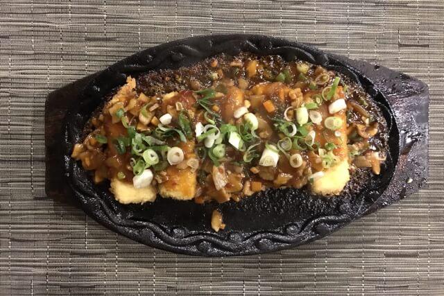 IZAKAYA GOKUの豆腐鉄板焼き