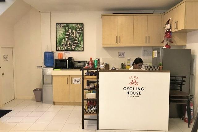 Cycling House Kuraの内観